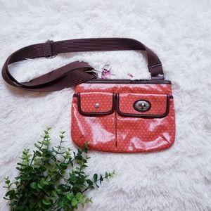 Fossil key-per orange pink shoulder crossbody bag